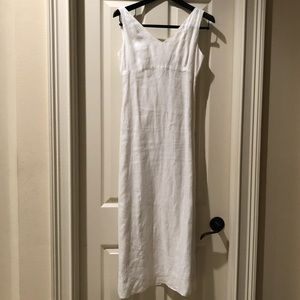 Banana Republic white linen maxi dress size 2
